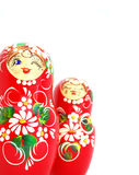 Russian Dolls. Isolated on a white background Royalty Free Stock Photography