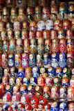 Russian dolls. Travel in Russia. Traditional souvenir - russian dolls, matryoshka Royalty Free Stock Images