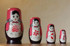 Russian dolls. Commonly known as babushka on the shelf Royalty Free Stock Image