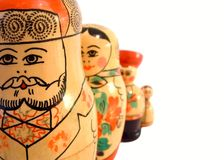 Russian Dolls. A set of 4 Russian Stacking Dolls Royalty Free Stock Photo