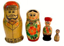 Russian Dolls 2. A set of 4 Russian stacking dolls Stock Photo