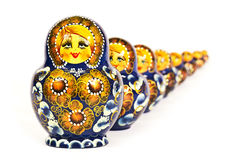 Russian dolls. Russian doll matrioska  on white background Royalty Free Stock Photography