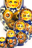 Russian dolls. Russian doll matrioska  on white background Stock Photos