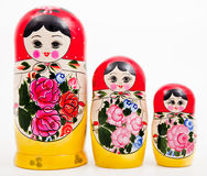 Russian Dolls. Russian traditional gift and toy called russian dolls or matrioshka Royalty Free Stock Image