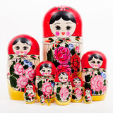 Russian Dolls. Russian traditional gift and toy called russian dolls or matrioshka Stock Photo