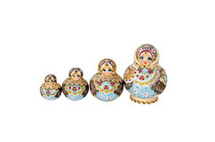 Russian dolls. Isolate Russian dolls laid out on growth Stock Photo