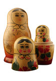 Russian Dolls. Three Russian dolls. Isolated with path Royalty Free Stock Image