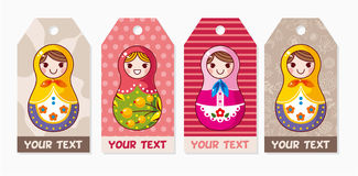 Russian dolls card Stock Photography