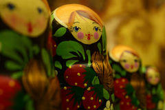 Russian dolls close-up Royalty Free Stock Photo
