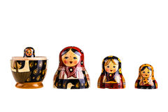 Russian dolls family Royalty Free Stock Photo