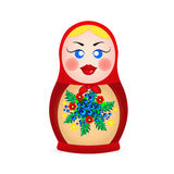 Russian dolls icons Royalty Free Stock Photography