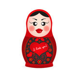 Russian dolls icons Royalty Free Stock Photos
