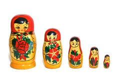 Free Russian Dolls In Single Row Royalty Free Stock Image - 20737656