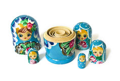 Russian dolls isolated royalty free stock photos