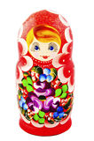 Russian Dolls. Isolated on a white background. Matryoshka Royalty Free Stock Images