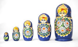 Russian dolls matrioska Royalty Free Stock Photos