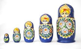 Russian dolls matrioska. On a white background Royalty Free Stock Photos