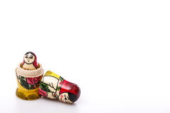 Russian Dolls Matryoshka Isolated on a white Royalty Free Stock Photos