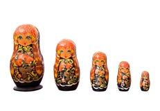 Russian Dolls Matryoshka on White Background. Russian Dolls Matryoshka Isolated on White Background Stock Images