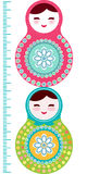 Russian dolls matryoshka on white background, pink Stock Photography
