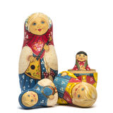 Russian dolls matte isolated Stock Images