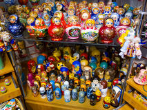 Russian dolls for sale, St. Petersburg Stock Photos