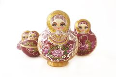 Russian Dolls in a v-shape Stock Photography