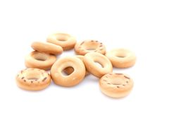 Russian donut on a white background.  Stock Photos