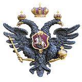 Russian double-headed eagle isolated on white background Royalty Free Stock Image