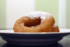 Russian   doughnut. Two Russian   doughnuts on the plate with sugar Stock Photo