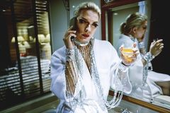 Russian drag queen Royalty Free Stock Photo