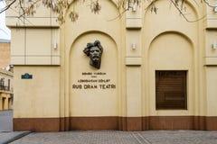 Russian Drama Theater. Baku city Royalty Free Stock Image