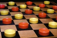 Russian draughts. A board game Stock Photo