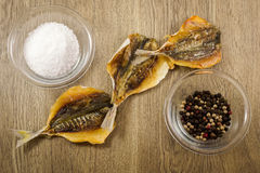 Russian Dry Salted Fish Snack Royalty Free Stock Photography