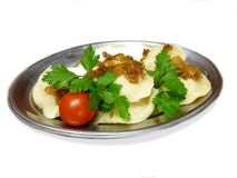 Russian dumplings. With cottage cheese Stock Photography