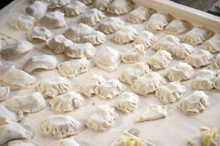 Russian Dumplings-Vareniky with potato. Royalty Free Stock Photo