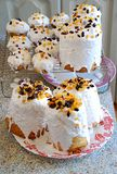 Russian Easter Bread Kulich with dried apricots and raisins royalty free stock images