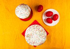 Russian Easter cake Stock Photos