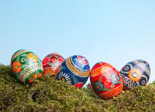 Russian easter eggs Royalty Free Stock Photography