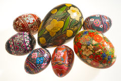 Russian eggs stock images