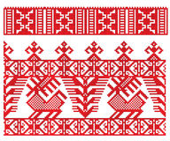 Russian embroidery deer Stock Photo