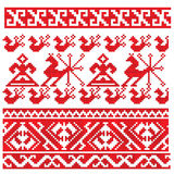 Russian embroidery folk pattern Royalty Free Stock Images