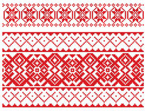 Russian embroidery pattern Stock Photo