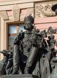 Russian Emperor Paul I. St. Petersburg, Russia, 16 March 2018, Russian Emperor Paul I monument stock photography