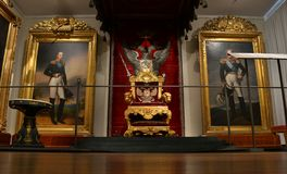 Russian Emperor throne National Museum Helsinki Royalty Free Stock Images
