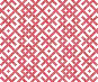 Seamless traditional Russian and slavic ornament.Four-color palette of raspberry in random order. Russian ethnic ornament.DISABLING LAYER, you can obtain Stock Images
