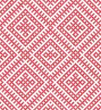 Seamless traditional Russian and slavic ornament.Four-color palette of raspberry in random order. Russian ethnic ornament.DISABLING LAYER, you can obtain Stock Photography