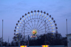 Russian exhibition center. The Ferris wheel. Royalty Free Stock Photos
