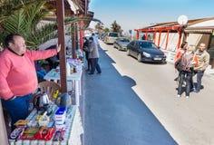 Russian Fair in the Bulgarian city of Pomorie Stock Photos