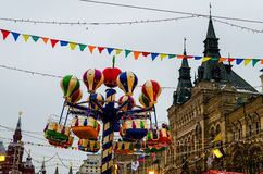 Russian Fair on Red Square Stock Image